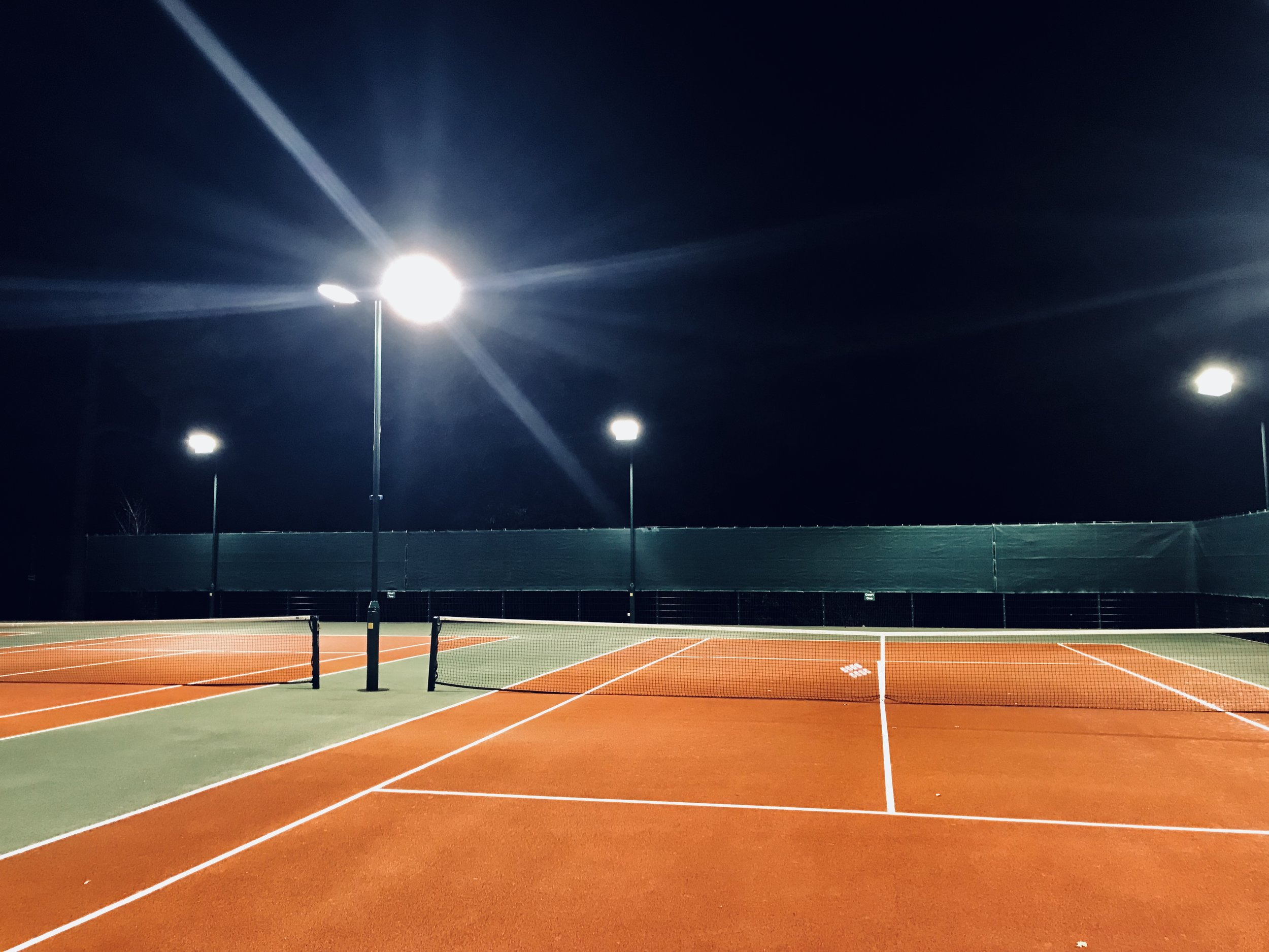 Floodlights - Autumn 2017 saw the introduction of Floodlit Courts to Branksome Park Tennis. For more details click the link below.