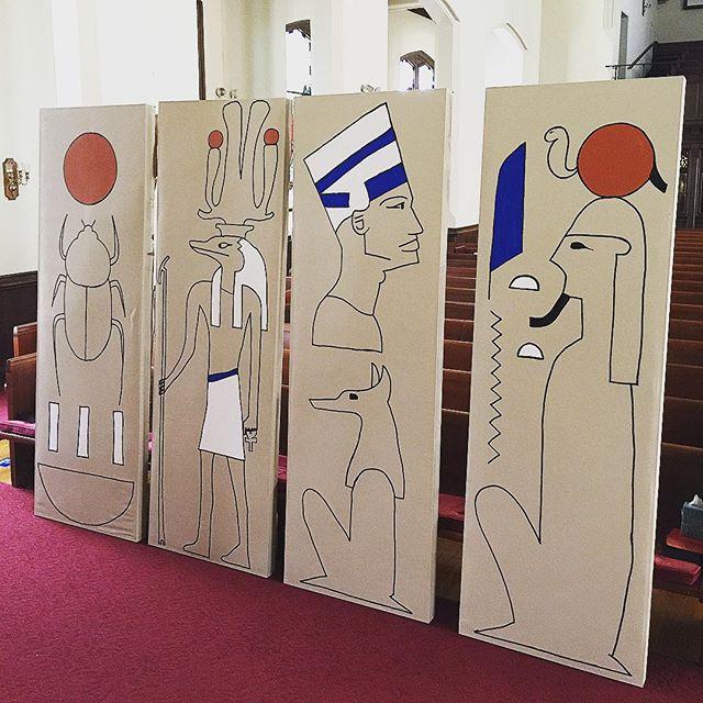 Moses and the Freedom Fanatics #set is painted! #musical #Moses #umc #unitedmethodistchurch #youthgroup #gainesville #gainesvillefl #bestofgainesville #openheartsopenmindsopendoors