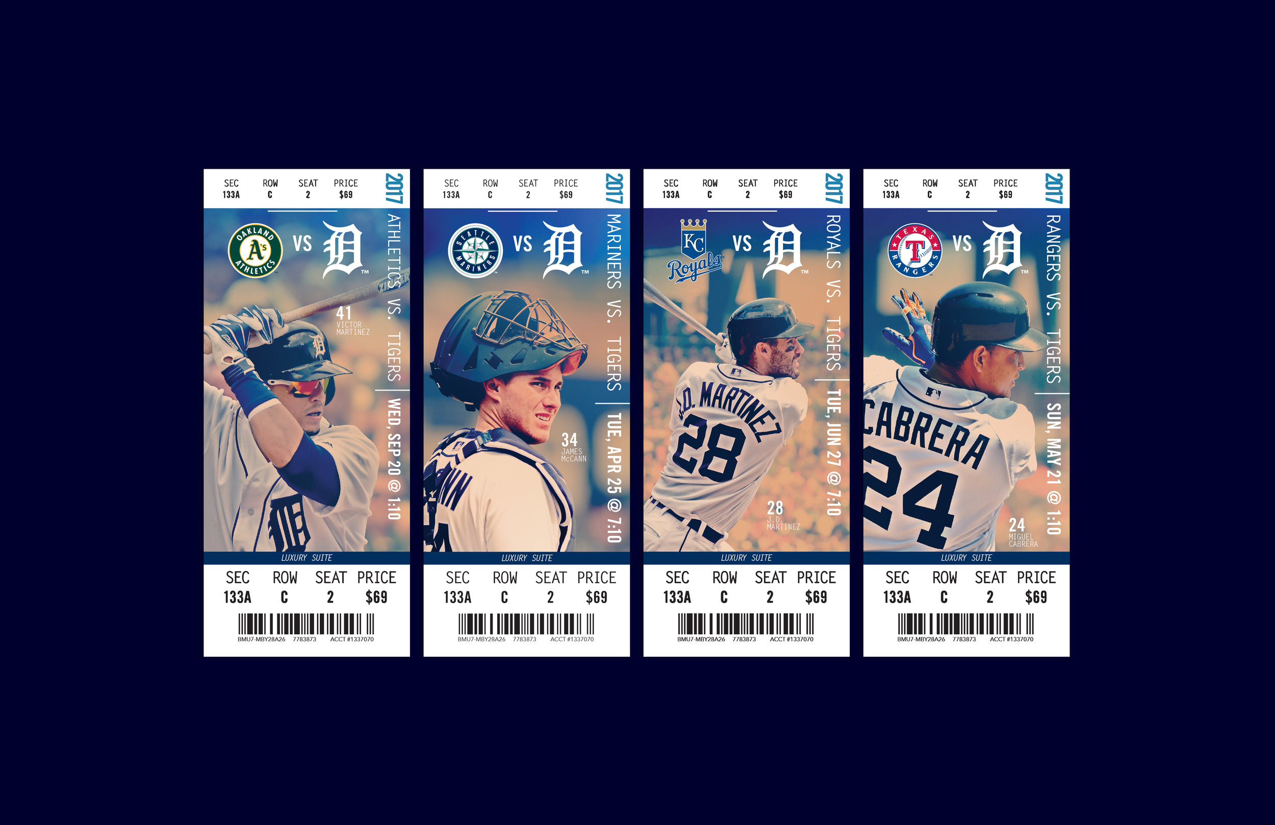 2017 Vanity Ticket Designs