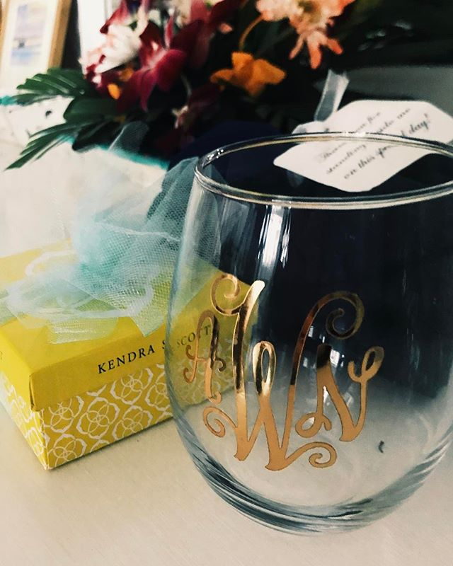 Monogrammed Wine Glasses -