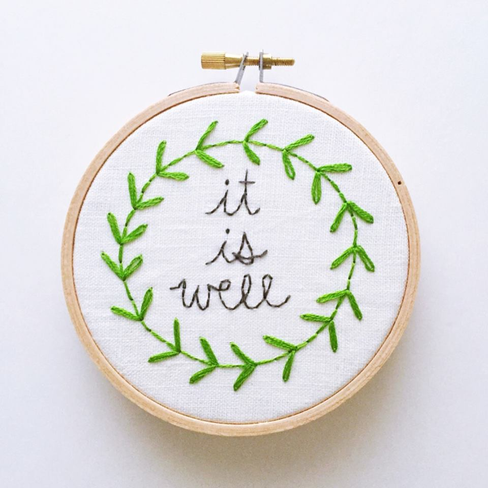Embroidery - Tyler Shaw is hand-stitching designs for you! You can get a 5-inch embroidered hoop for $20. You can reach her on Facebook or via email to get your donation decoration!