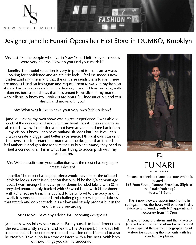 New Style Mode DUMBO SHOW Feb 2019