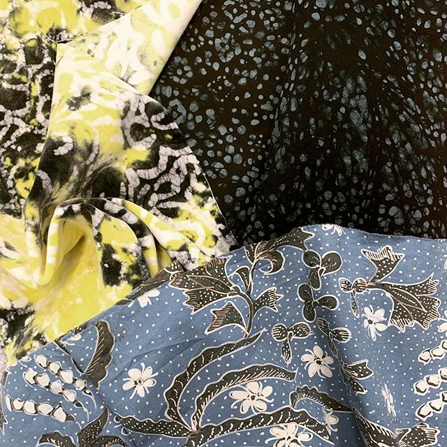 Batik from Ghana, India, and Indonesia. Each represents a different region, story, and individual hand of the artisan that created it. These are some of the fabrics that were selected by PV to showcase at the Design Forum in Paris.