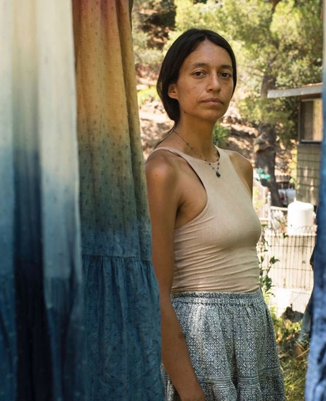 @outerknown_womens and @mariacauldron really outdid themselves with this incredibly beautiful collaboration. Bringing together art, fashion, our artisan made textiles, and natural dyes. Bravo!