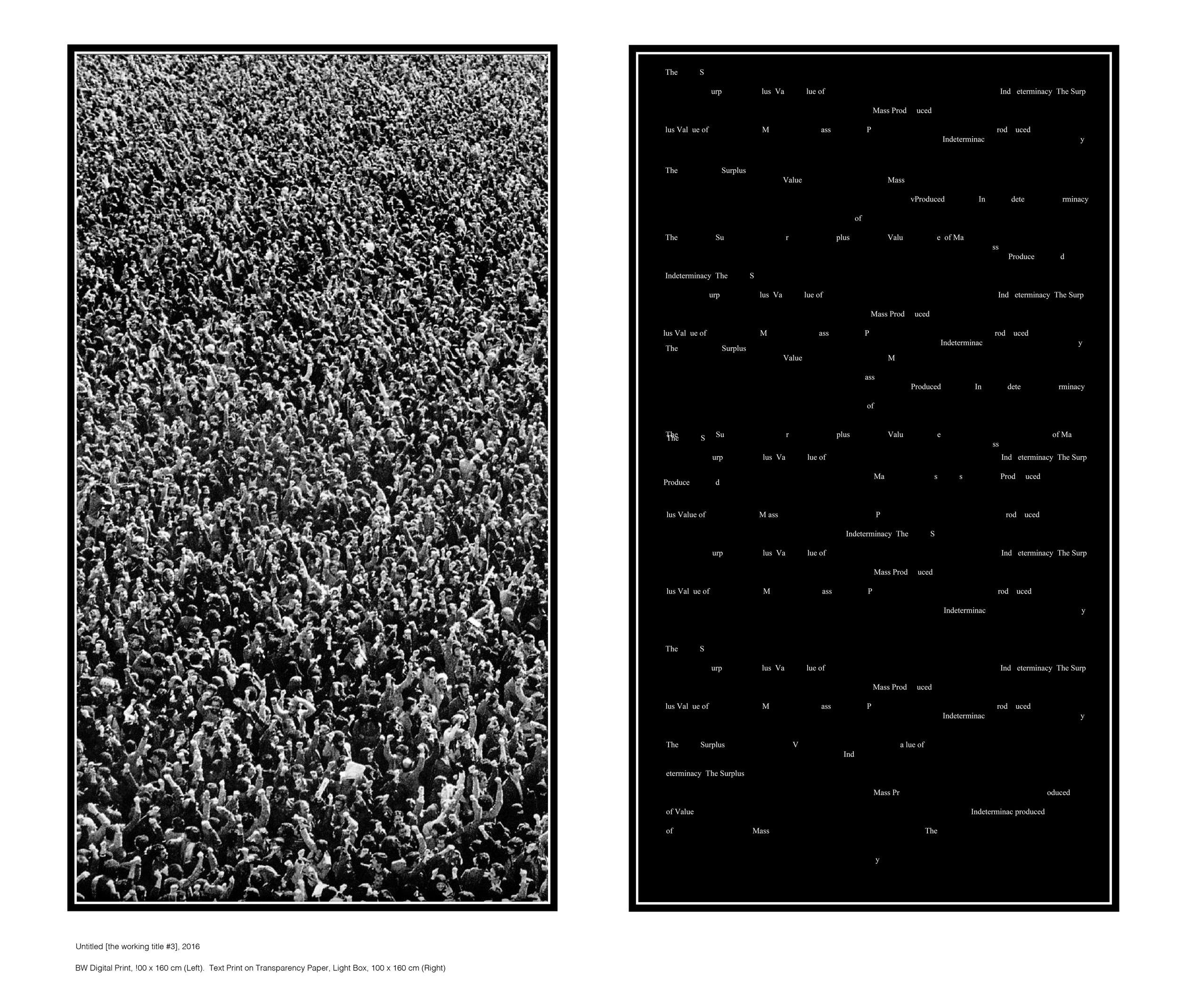 """The working Title #2"", Inkjet Print, Light Box, 100 X 160 cm"