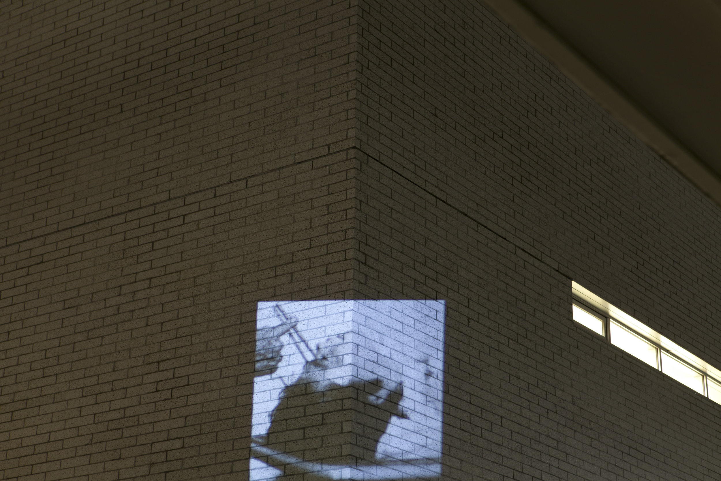 HD Image projection onto UBC's building of  Centre for Interactive Research on Sustanablity