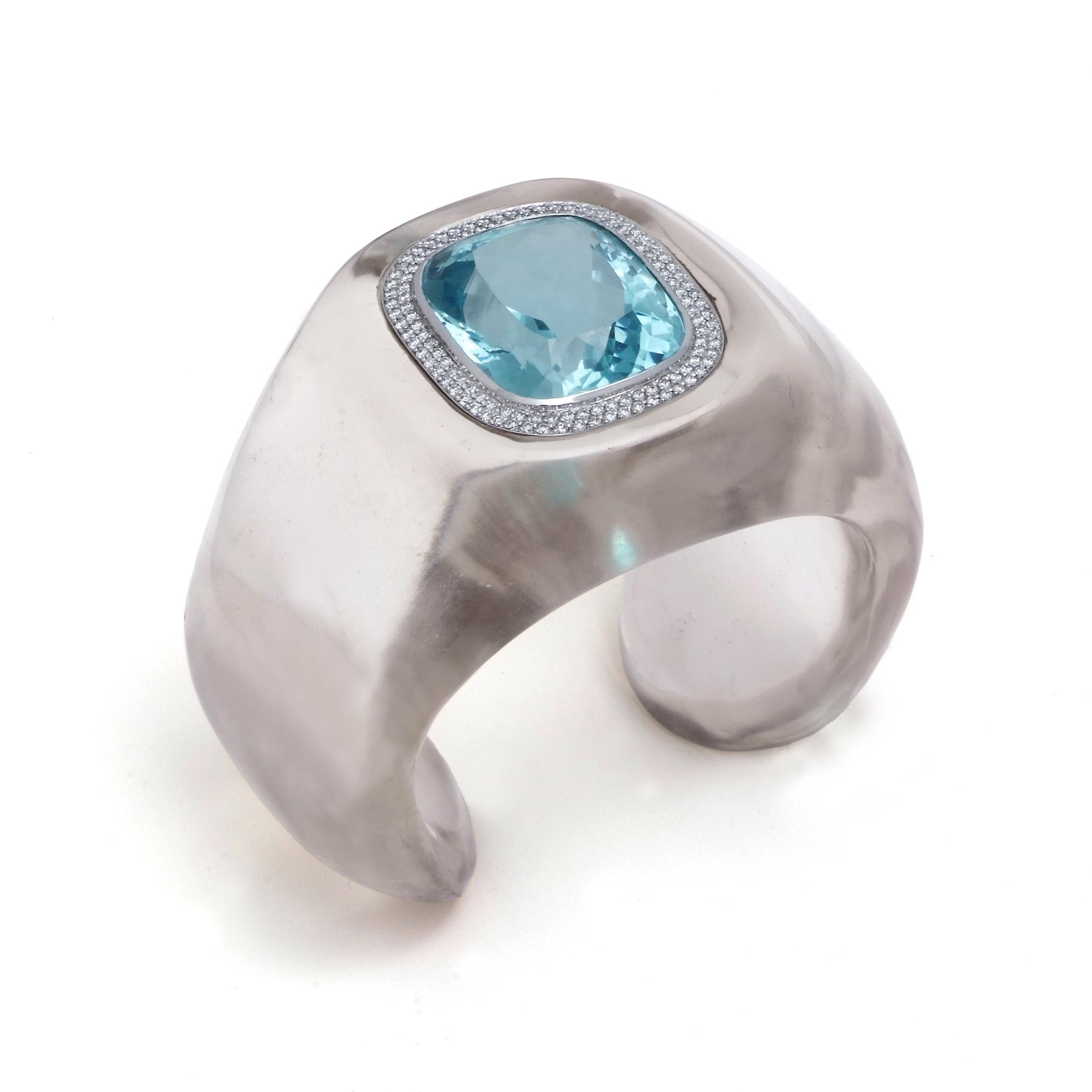 Bear Brooksbank crystal cuff