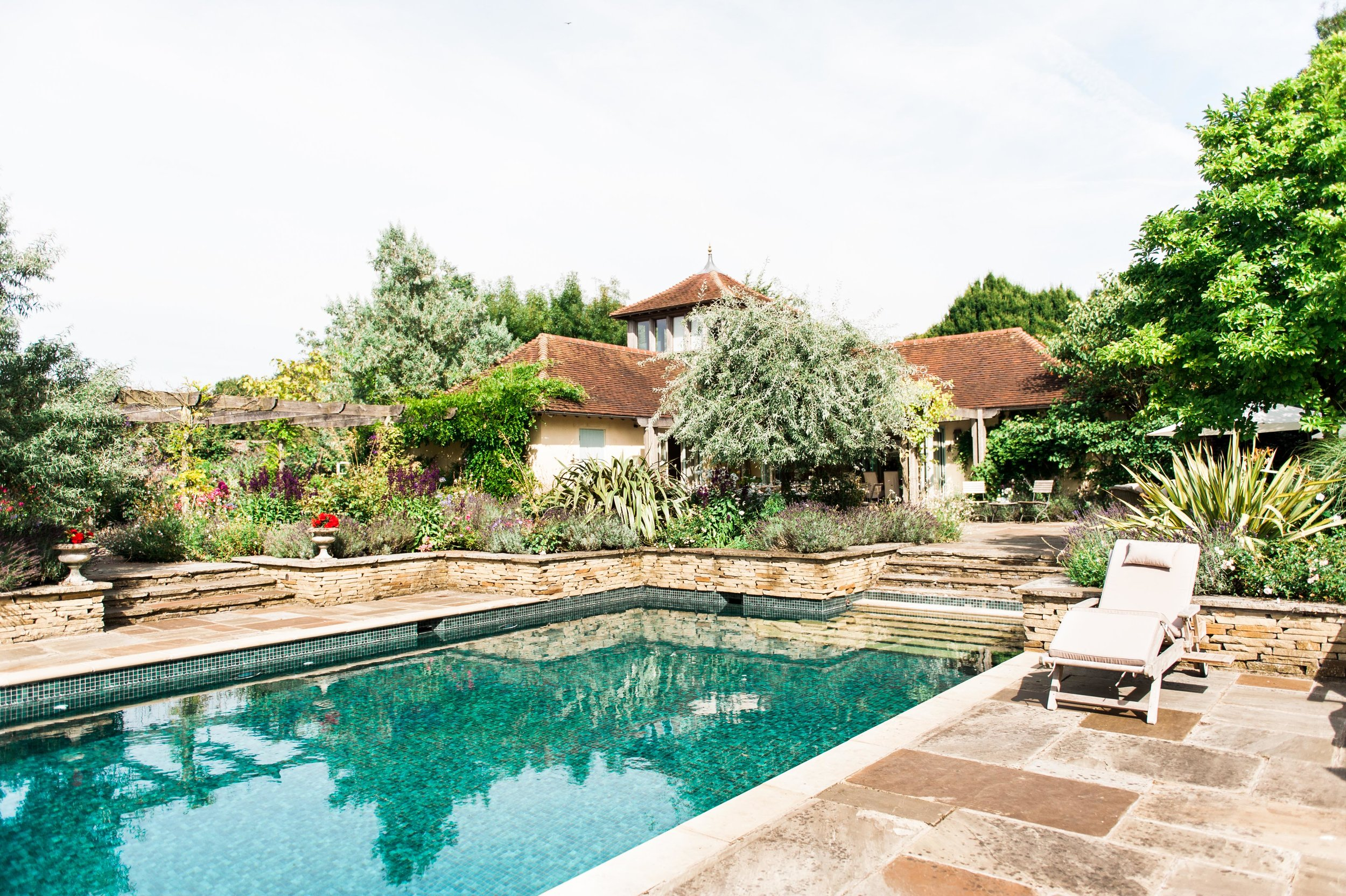 Wickham House Walled Garden pool Kate Nielen Photography