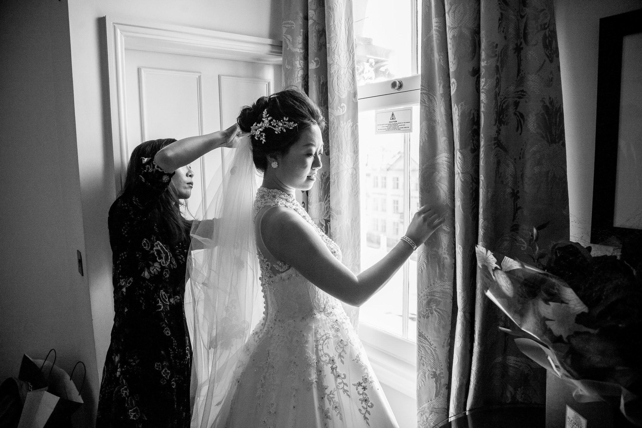 Oxford college wedding_bridal prep