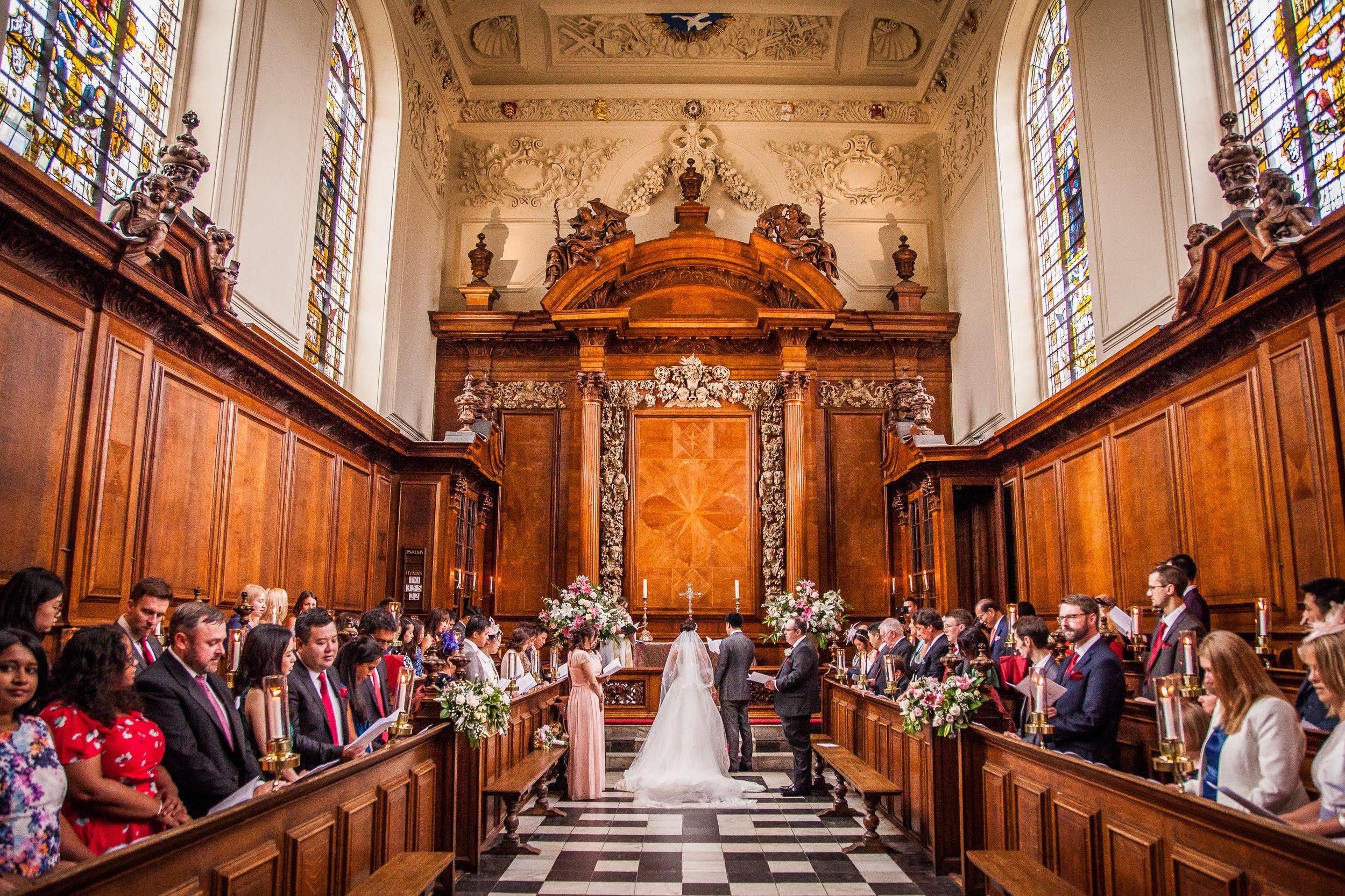 Oxford college wedding_church service