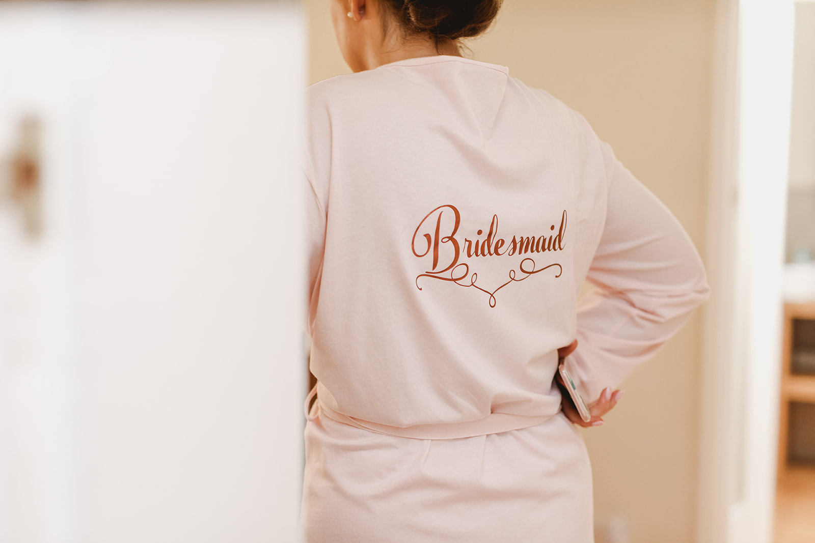 Eggington House marquee wedding_bridesmaid