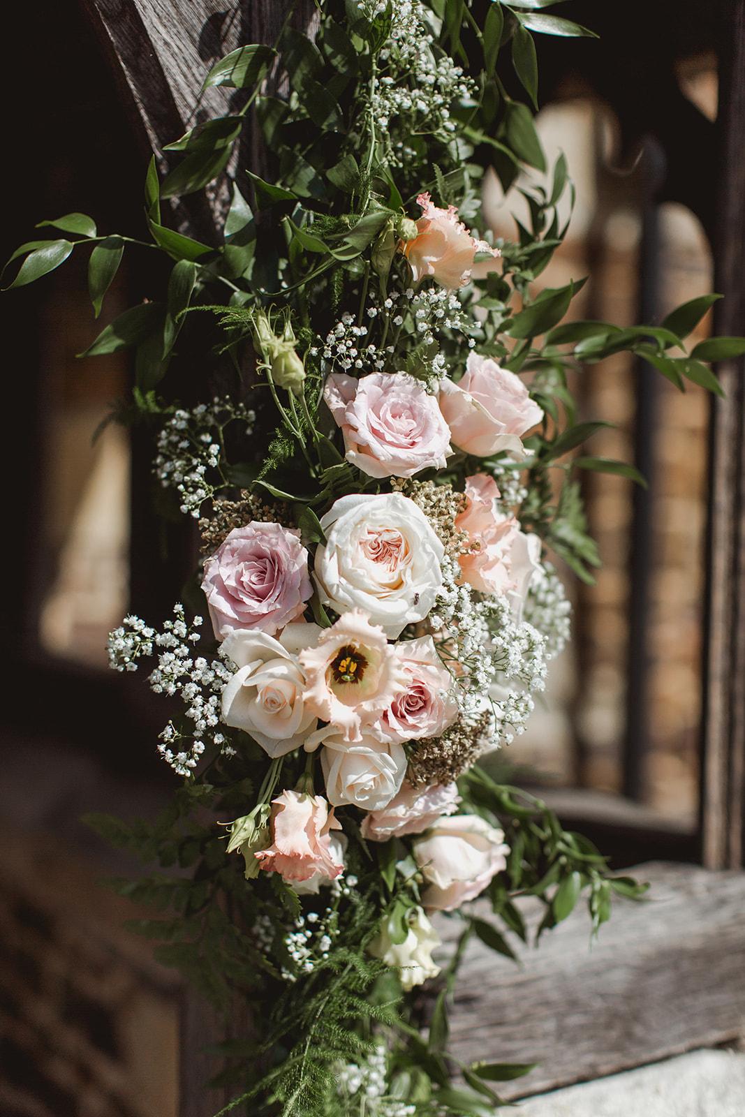 Eggington House marquee wedding_church flowers