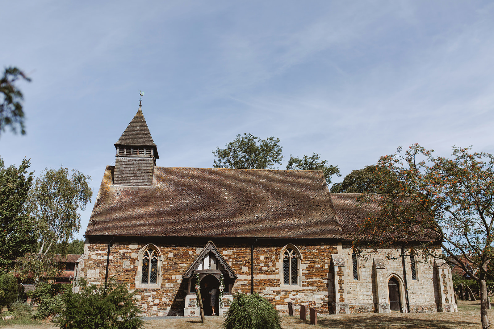 Eggington House marquee wedding_church