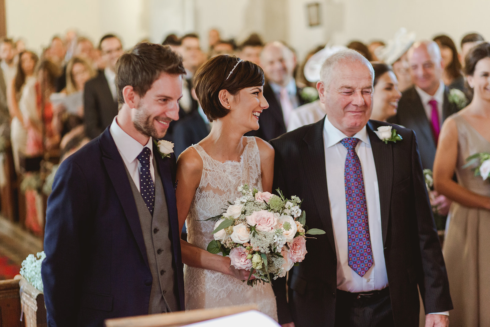 Eggington House marquee wedding_bride and groom at altar