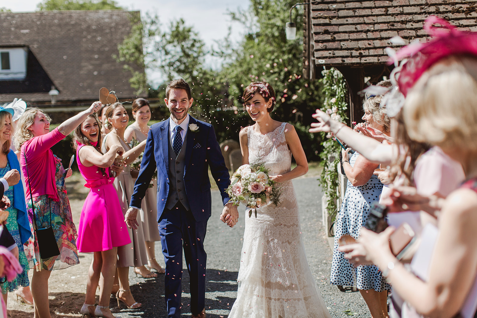 Eggington House marquee wedding_confetti shot