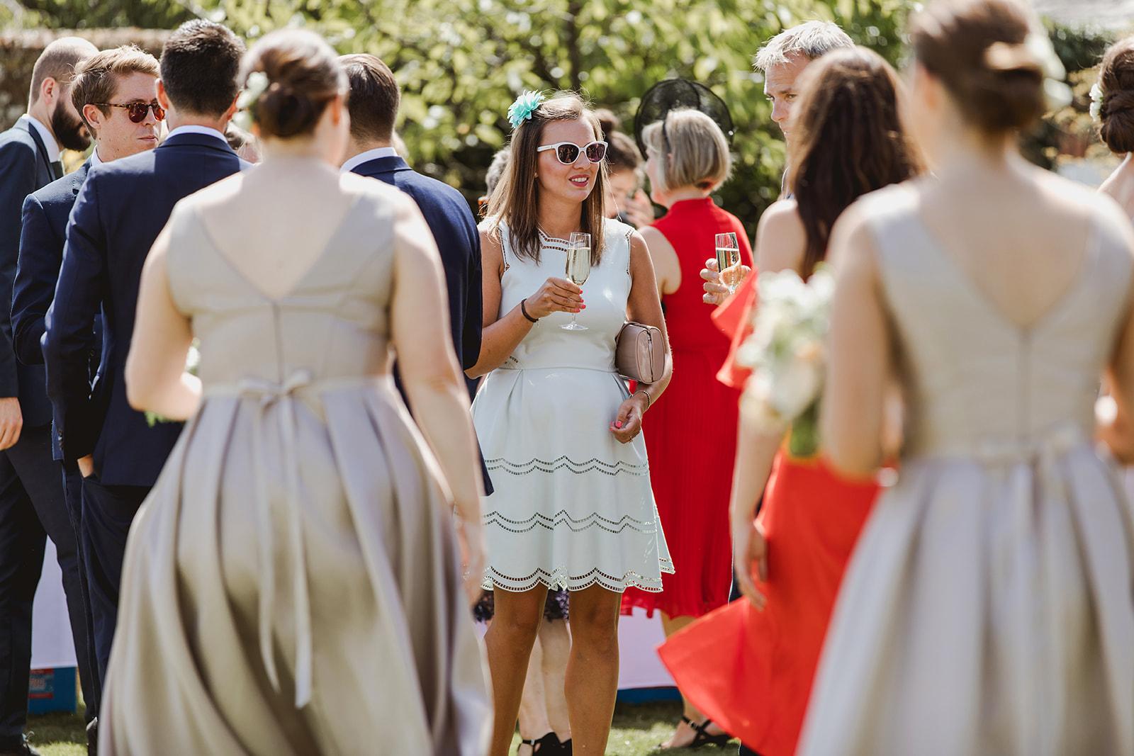 Eggington House marquee wedding_sunny reception