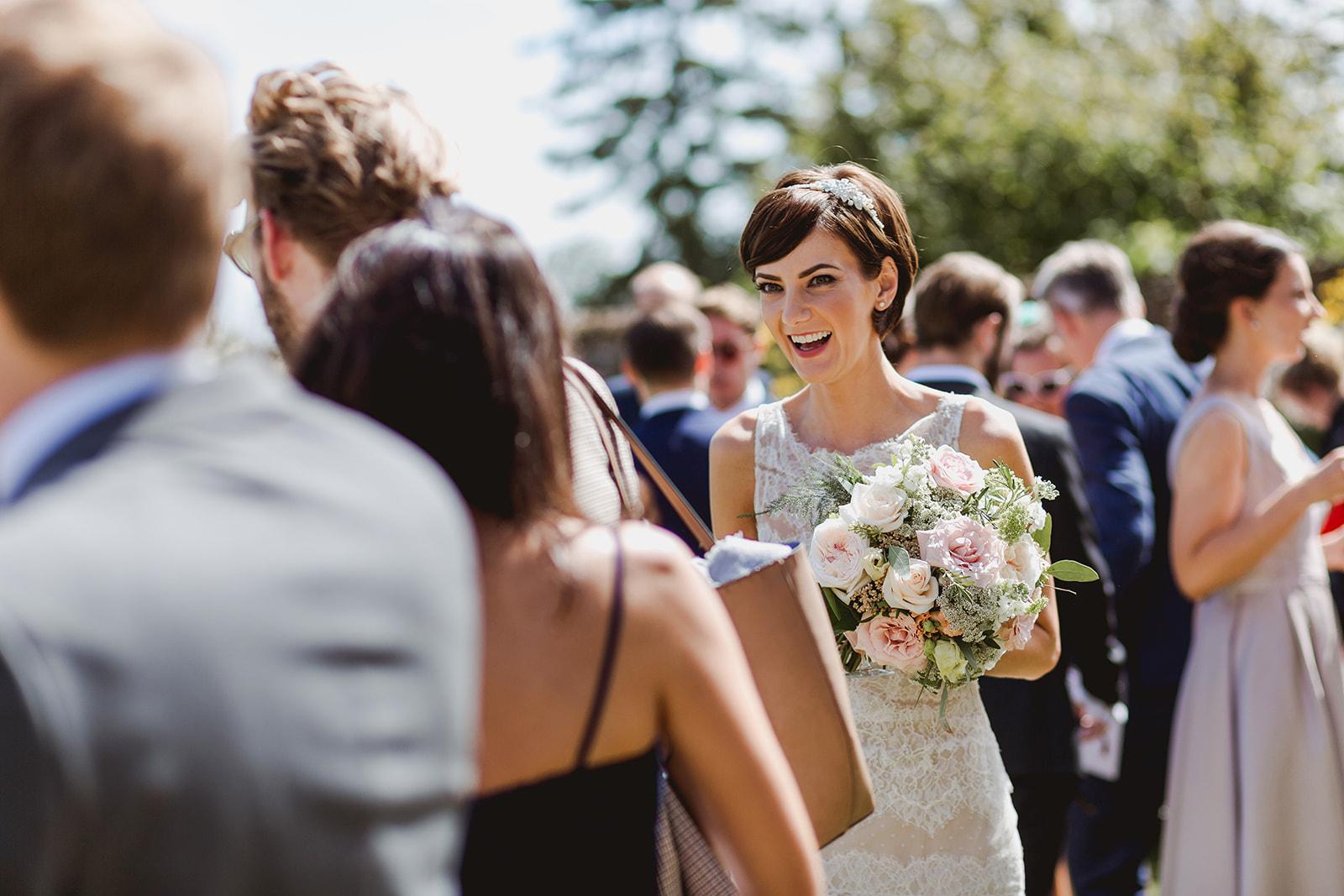 Eggington House marquee wedding_bride at reception