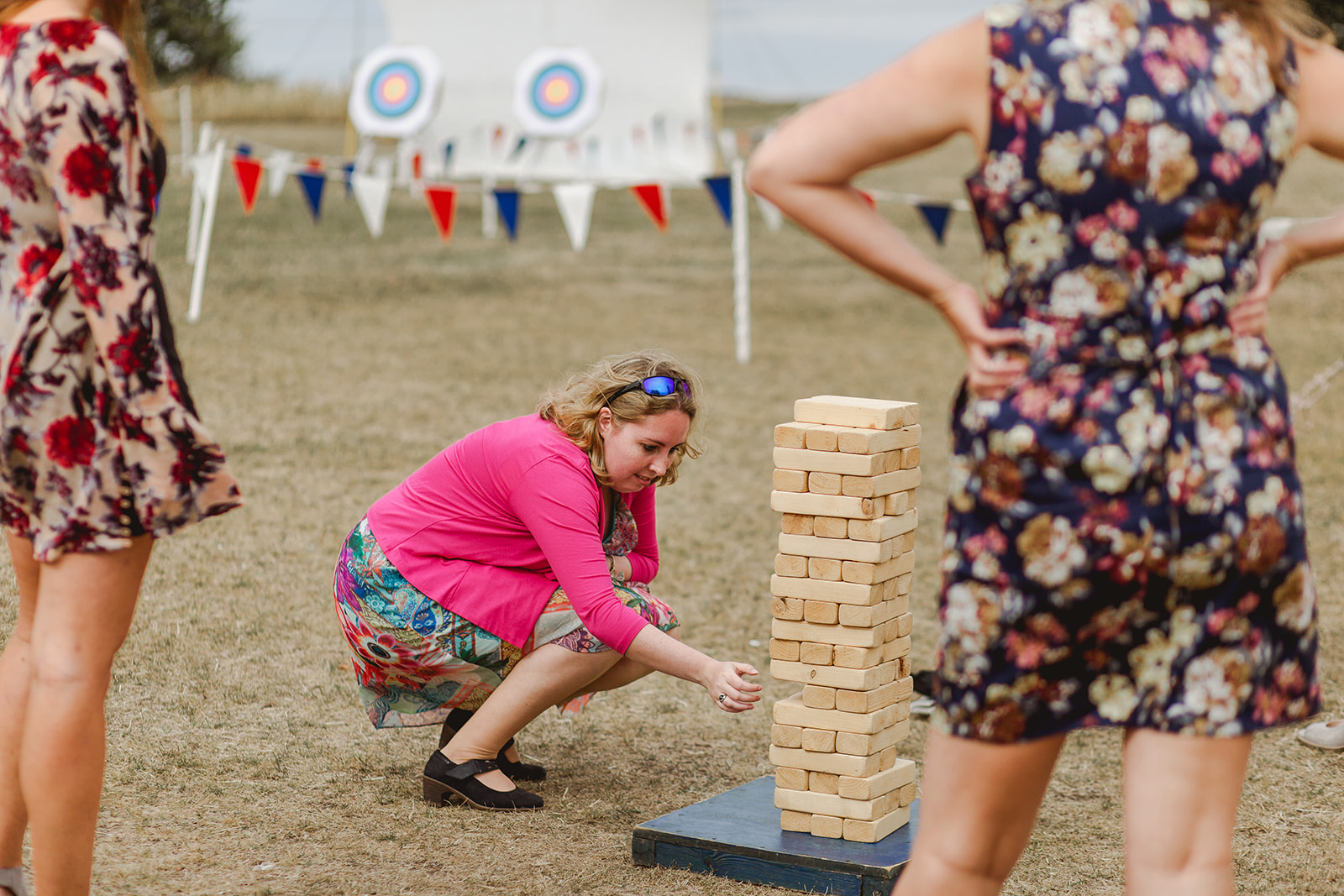 Eggington House marquee wedding_garden games