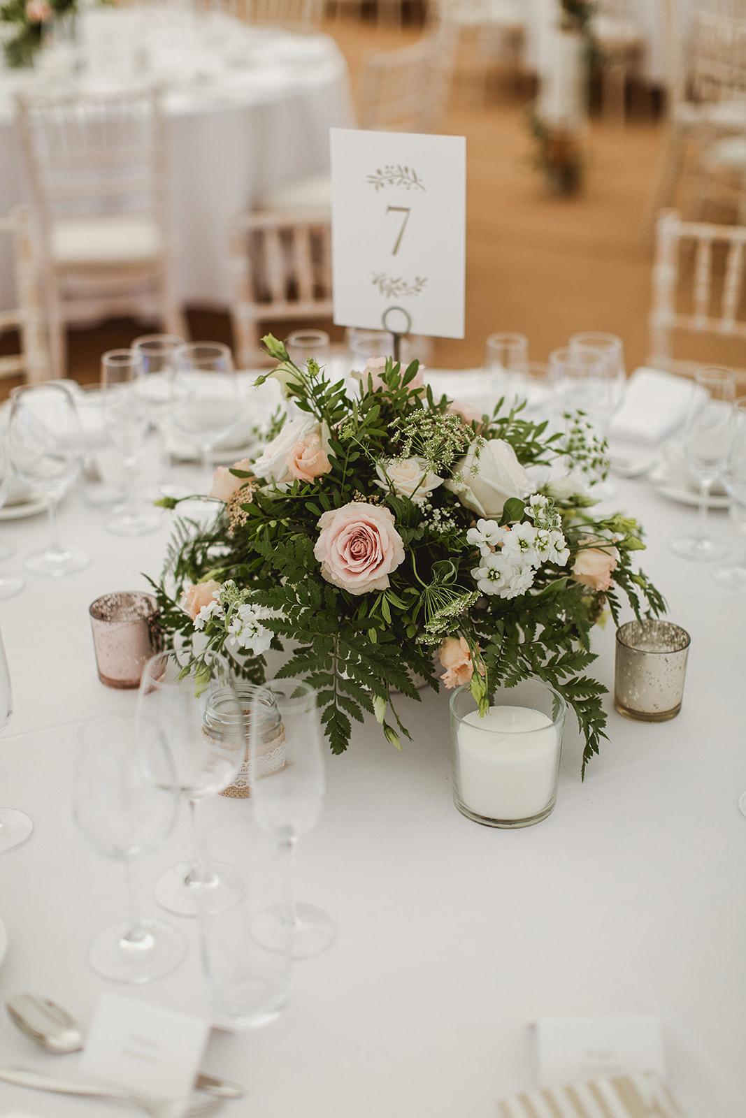 Eggington House marquee wedding_table decorations