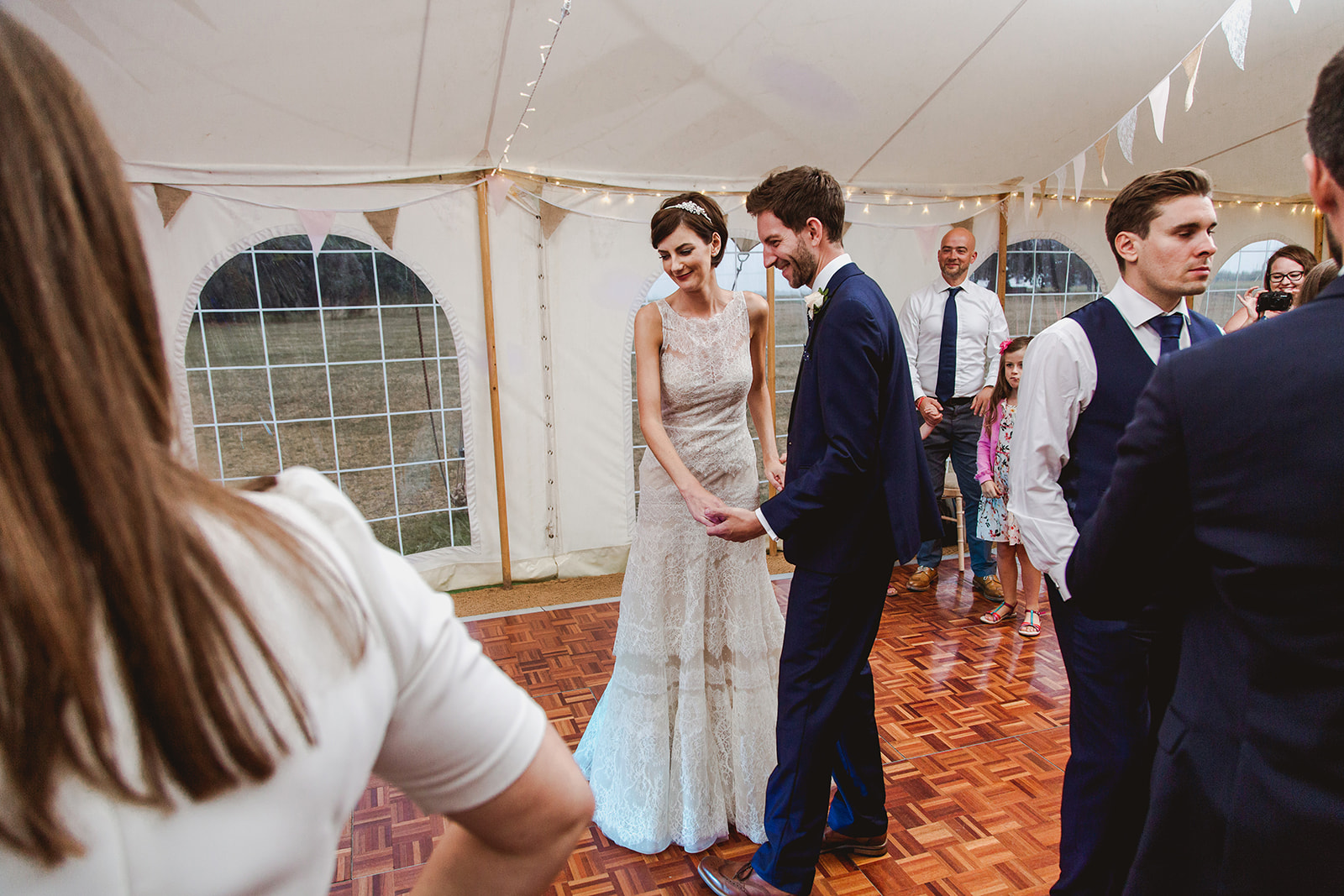 Eggington House marquee wedding_bride and groom first dance