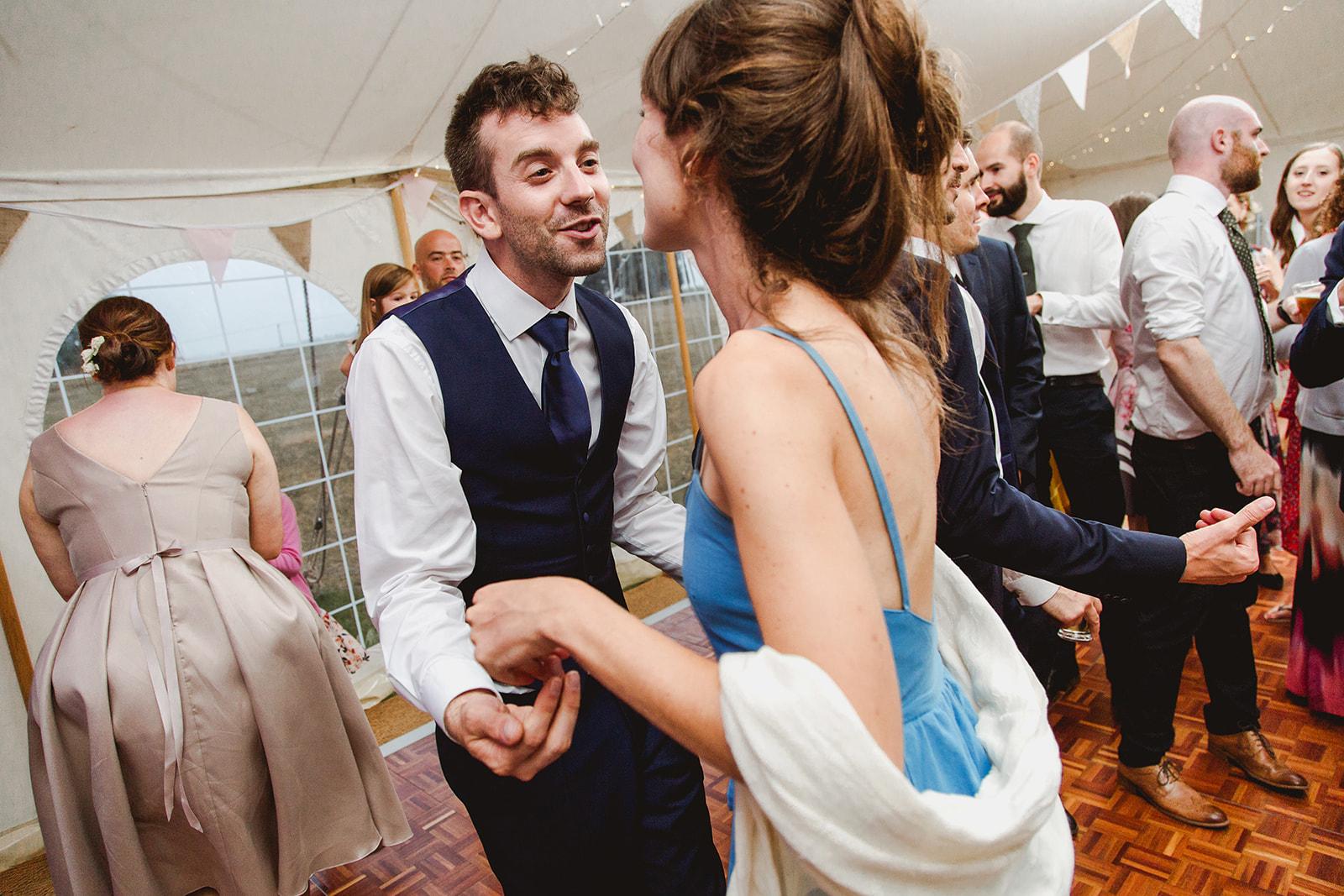 Eggington House marquee wedding_guests on the dancefloor