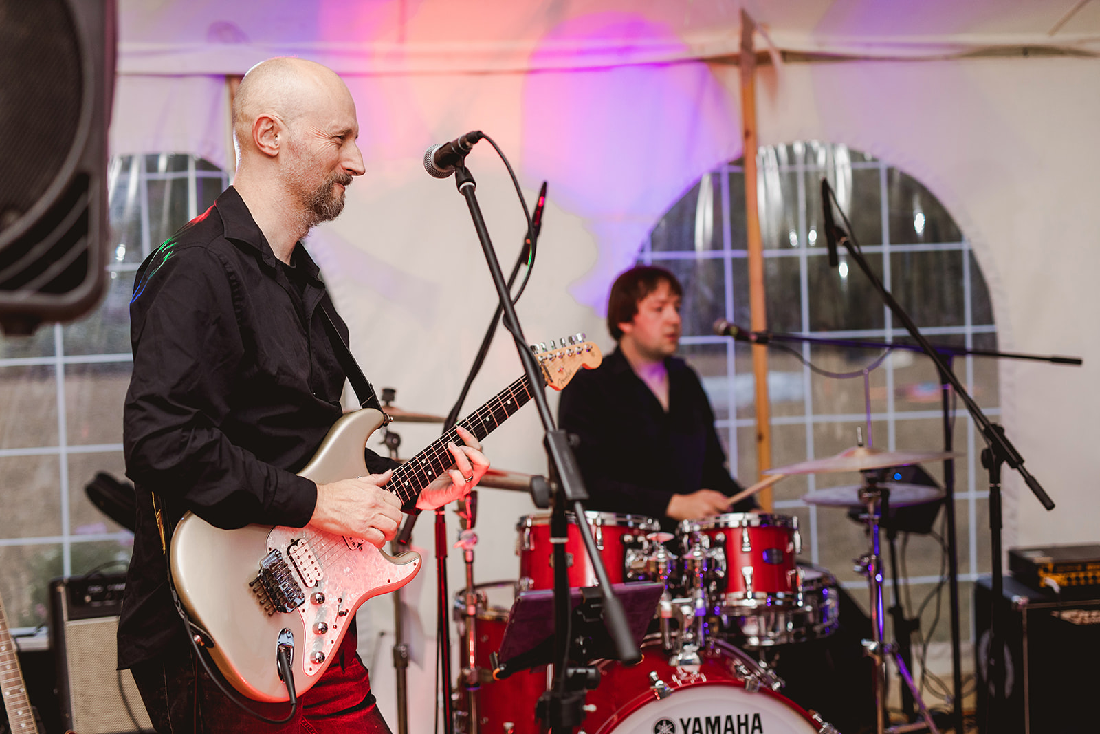 Eggington House marquee wedding_band play