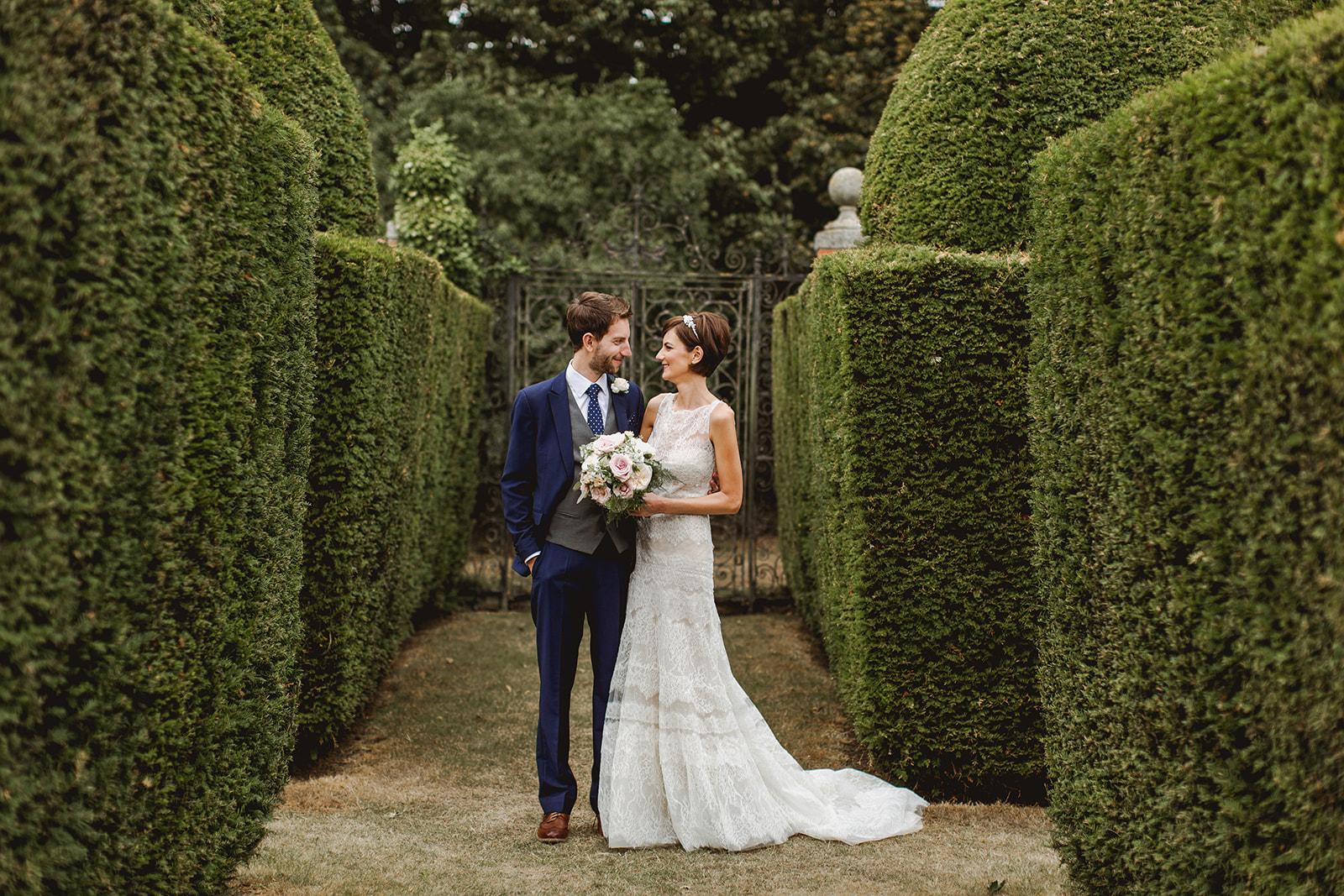 Eggington House marquee wedding_couple portrait