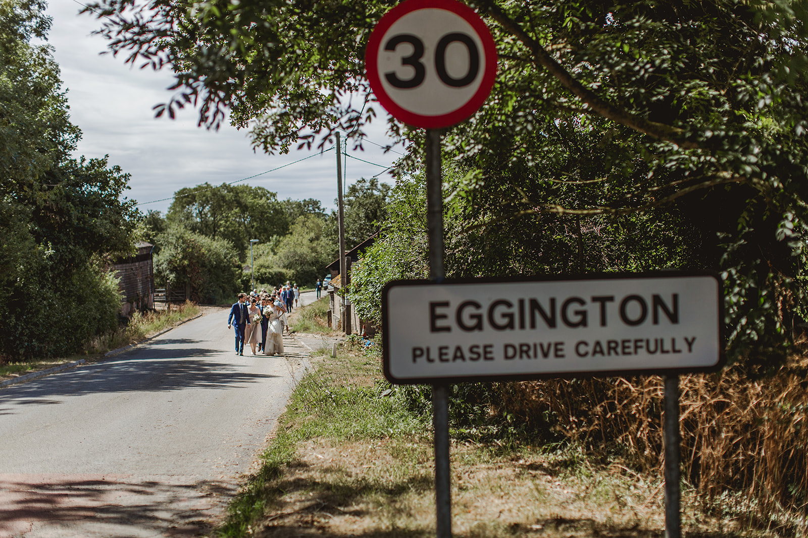 Eggington House marquee wedding_guests walk up to reception