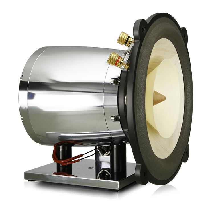 Ampeggio X的新电磁心脏 - 每个Voxativ fieldcoil驱动器都配有木制锥形。有几种型号可供选择。