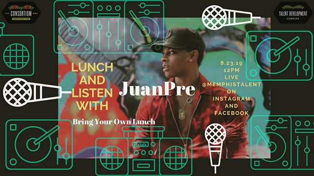 This Friday join us IG live to watch our Lunch and Listen MMT Artist @_princejuanpre perform at 12pm! . . #redomemphismusic #lunchandlistenmmt #choose901 #ilovememphisblog  #live #performance