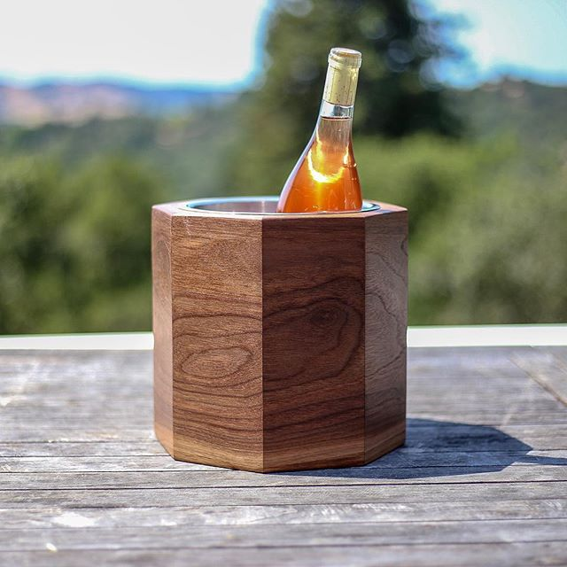 Been loving the spring vibes this week. Photo'd is our walnut-grain-wrapped rosé chiller, you can pick one up on our website or at the @sfmomastore in downtown San Francisco.