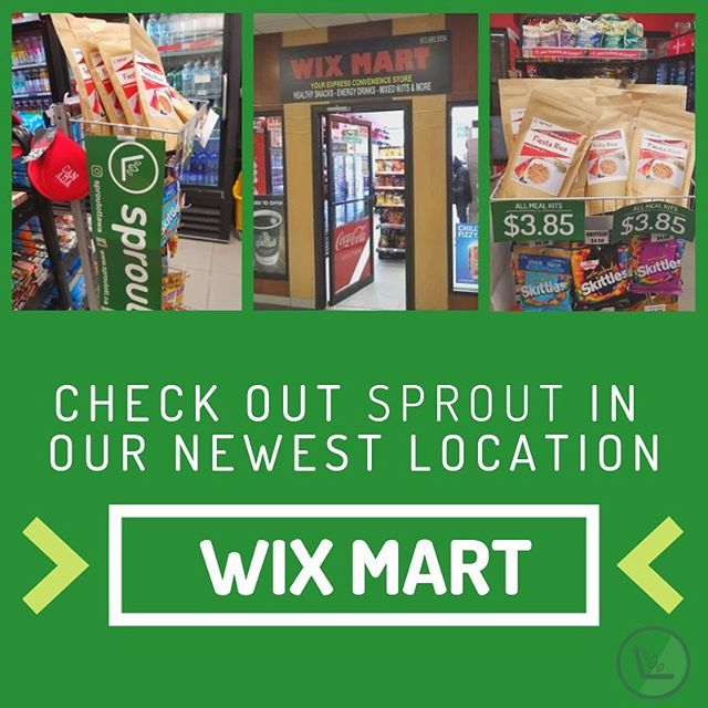 OMGOMGOMGOMG have you heard??? Sprout products are now stocked at a brand new location, Wix  Mart!! Find all of our meal kits at 1 Nicholas St, Ottawa. #sproutottaws#uottawa#health