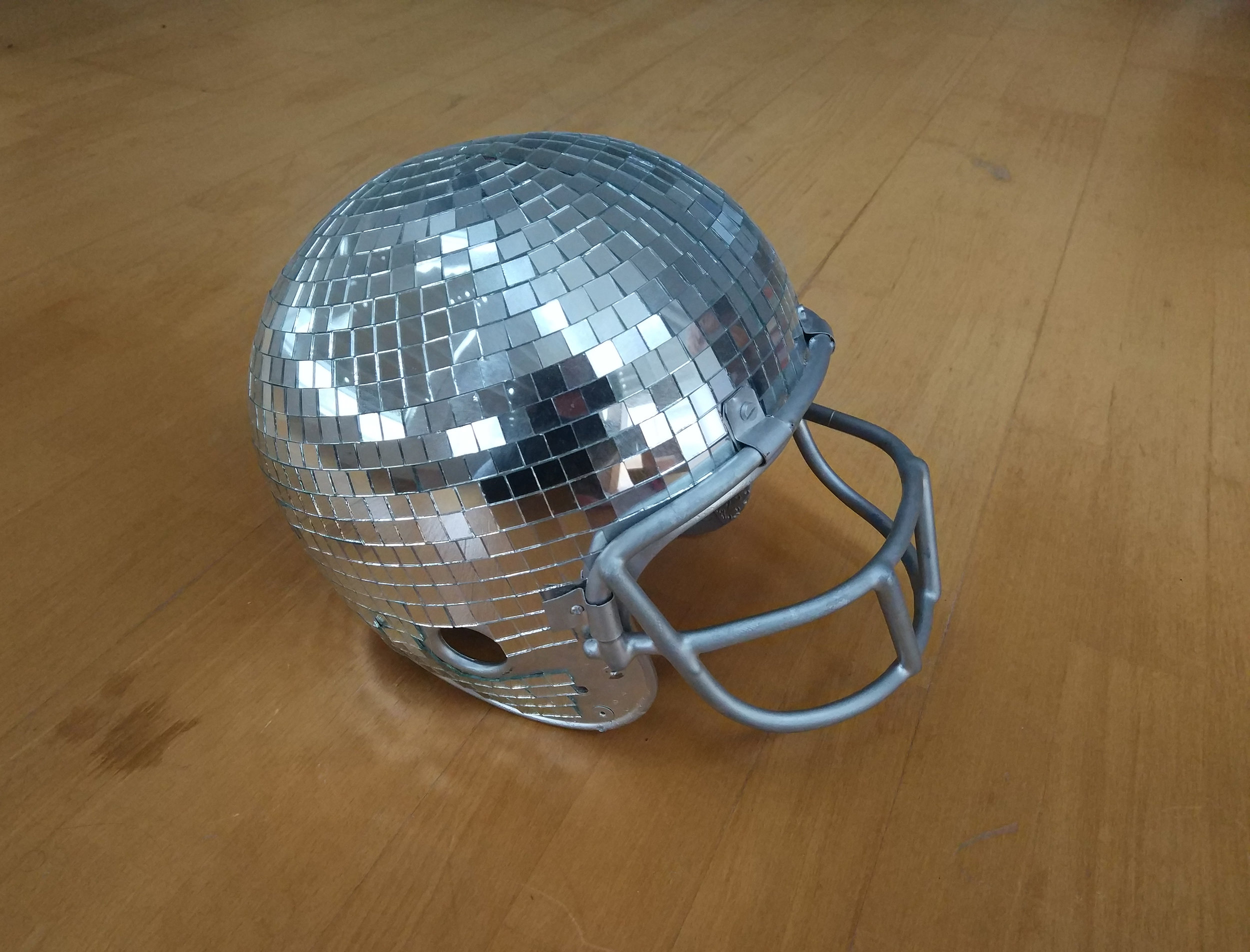 Mirror ball helmet