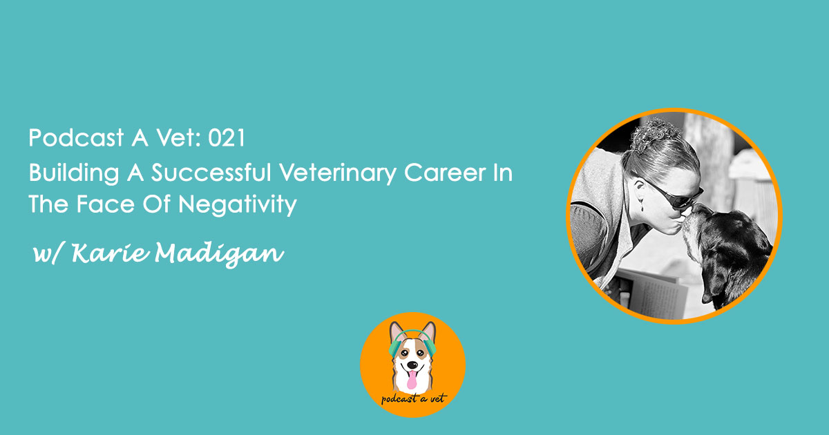 Podcast A Vet 021: Building A Successful Career In The Face Of Negativity w/ Karie Madigan
