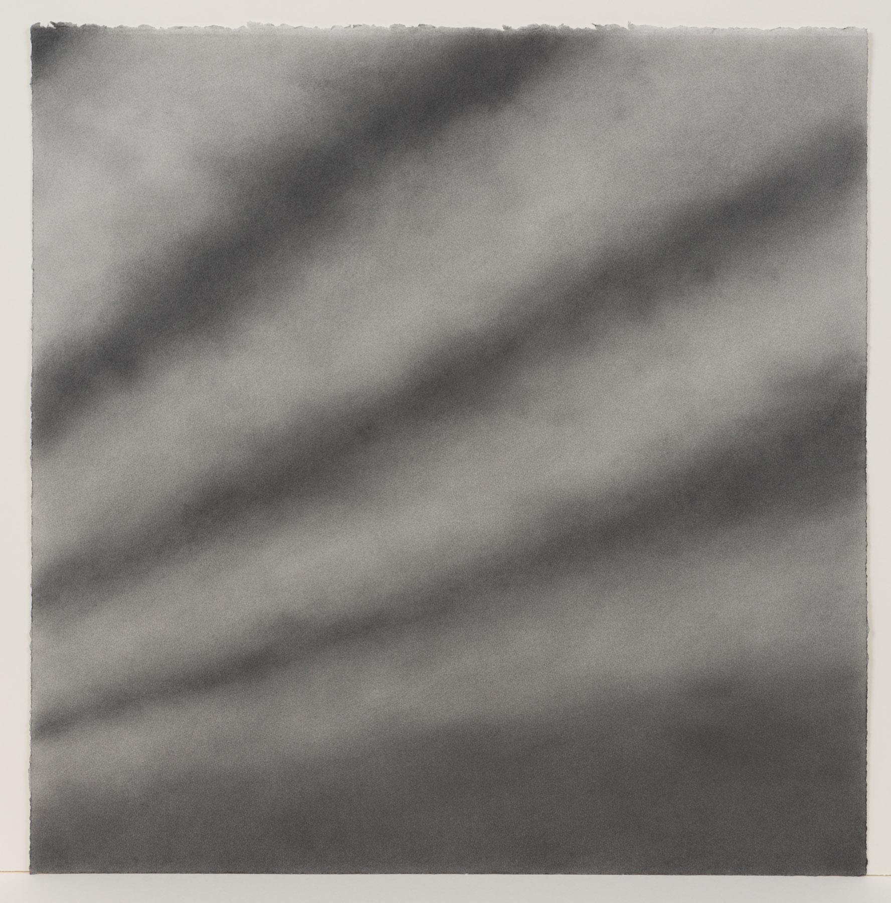 """Andréanne Godin,  #04 : History of a Landscape (Variation VI),  from the series  Descriptions de paysages , 2015, graphite powder on Arches paper, 24"""" x 24"""" (61 x 61 cm)"""