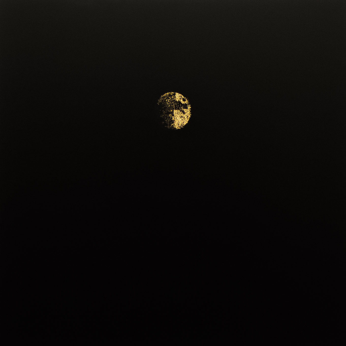 "Joe Lima,  Lonely Luminiscence,  2013, engraved wood, 48"" x  48"" (122 x 122 cm)"