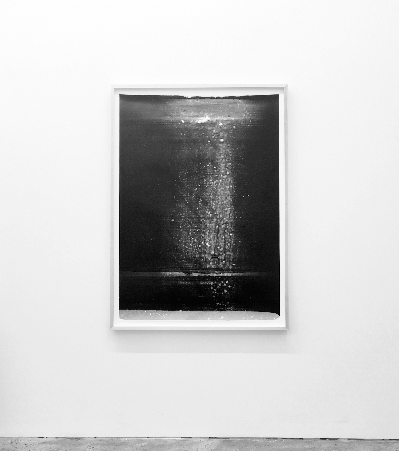 """Jim Verburg, Untitled (from the series Metaphysical Obstacles and The Acceptance of the Inevitable),  2016 ,  oil based paint on frosted Mylar,46"""" x 33"""" (117 x 84 cm)"""