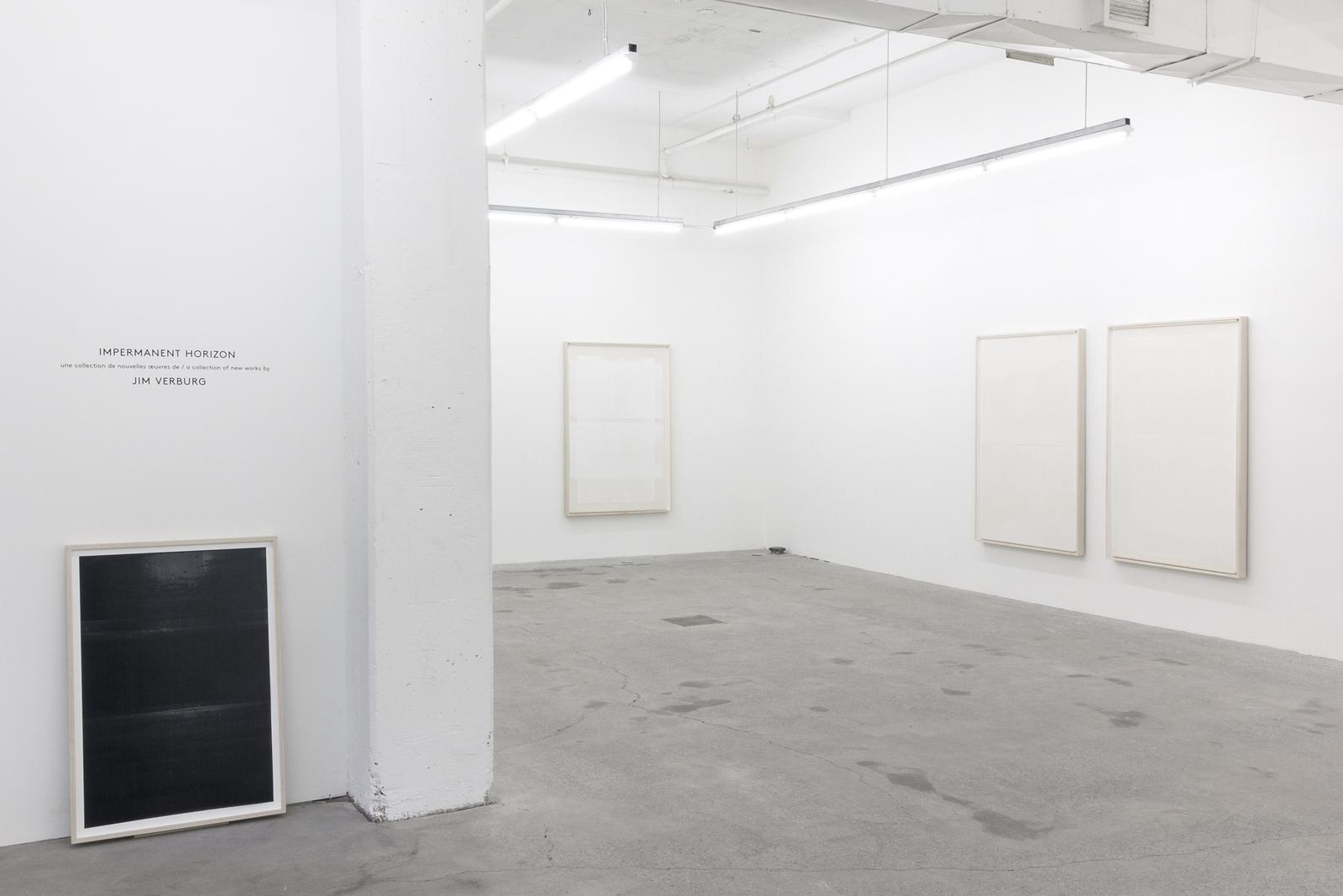 Jim Verburg,  Impermanent Horizon , 2016, exhibition view, Galerie Nicolas Robert