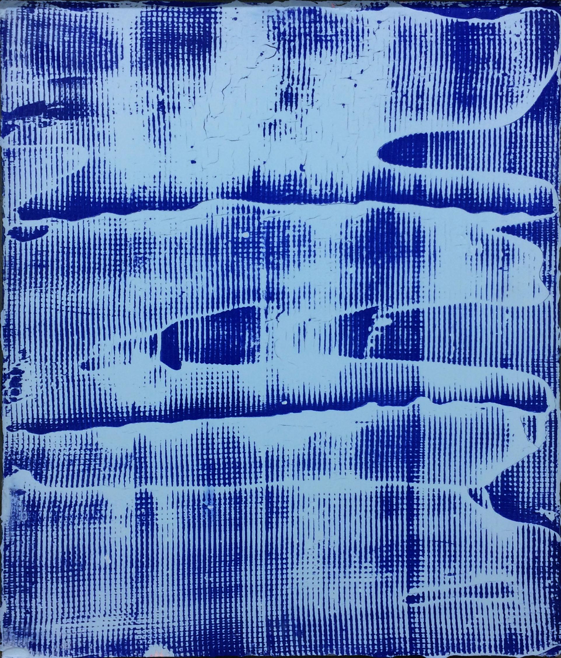 "Blueprint B-2  2017  Plaster and spray painting on gypse  24 X 20"""