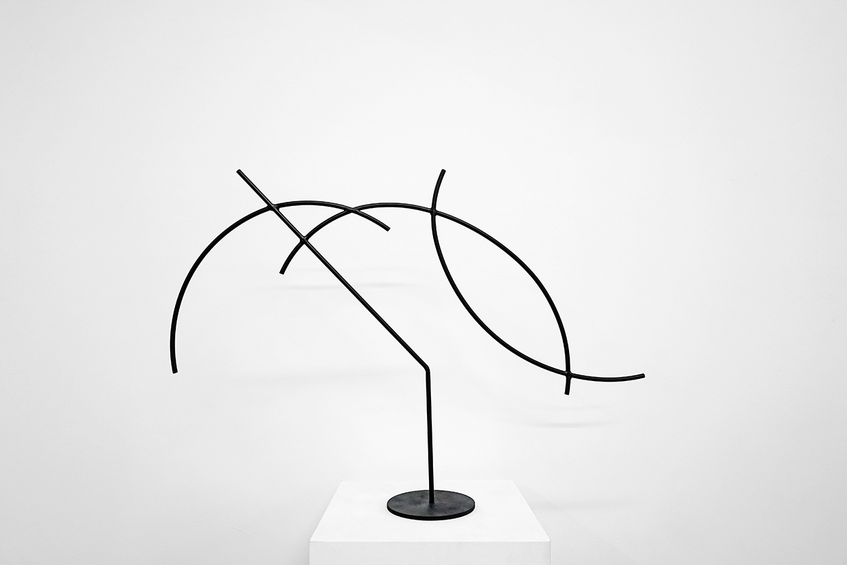 Jacob Whibley,  digger 4 , 2017, painted steel, variable dimensions