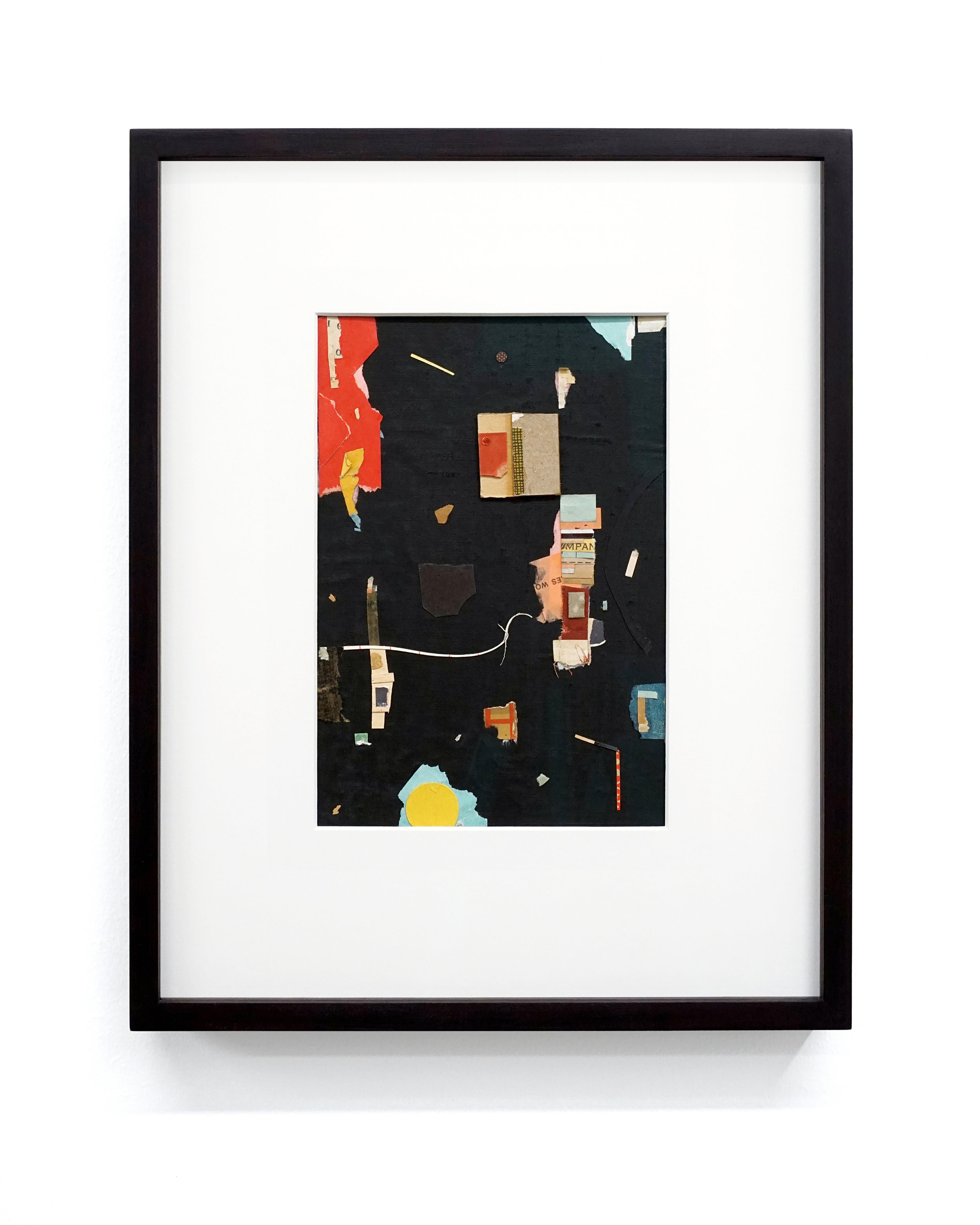 "Jacob Whibley, mpa , 2017, ephemera paper on cardboard,13 x 20 cm (5.5"" x 8"")"