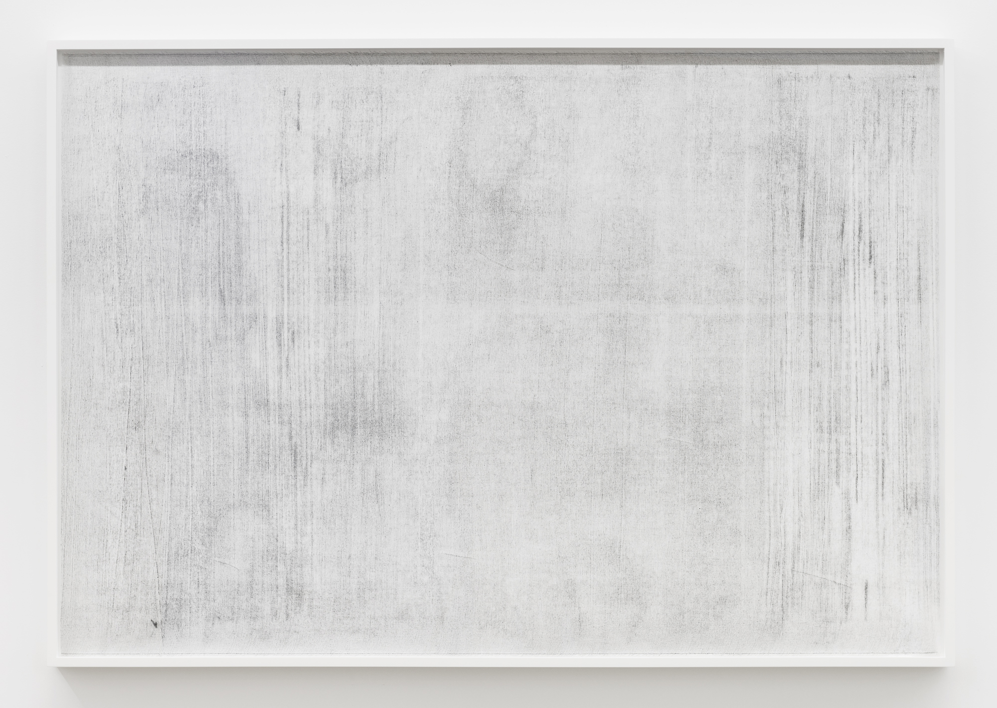 """Jim Verburg,  Untitled (where it becomes clear #1) , 2018, oil, graphite and charcoal on tarlatan, 41"""" x 59"""" (102 x 147 cm)"""