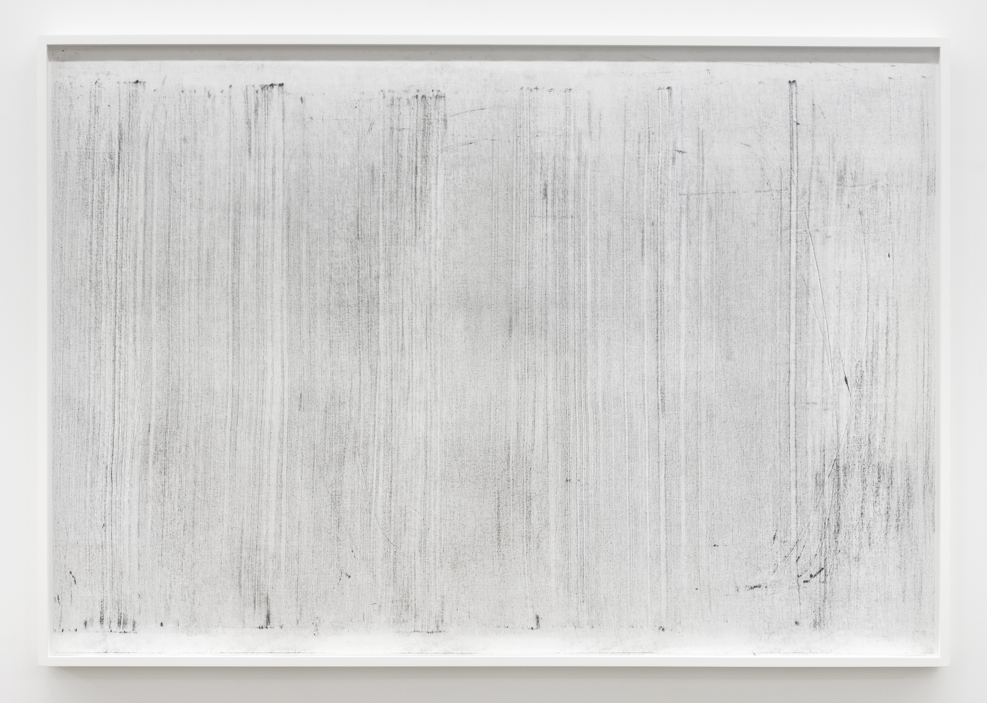 """Jim Verburg,  Untitled (where it becomes clear #2 , 2018, oil, graphite and charcoal on tarlatan, 41"""" x 59"""" (102 x 147 cm)"""