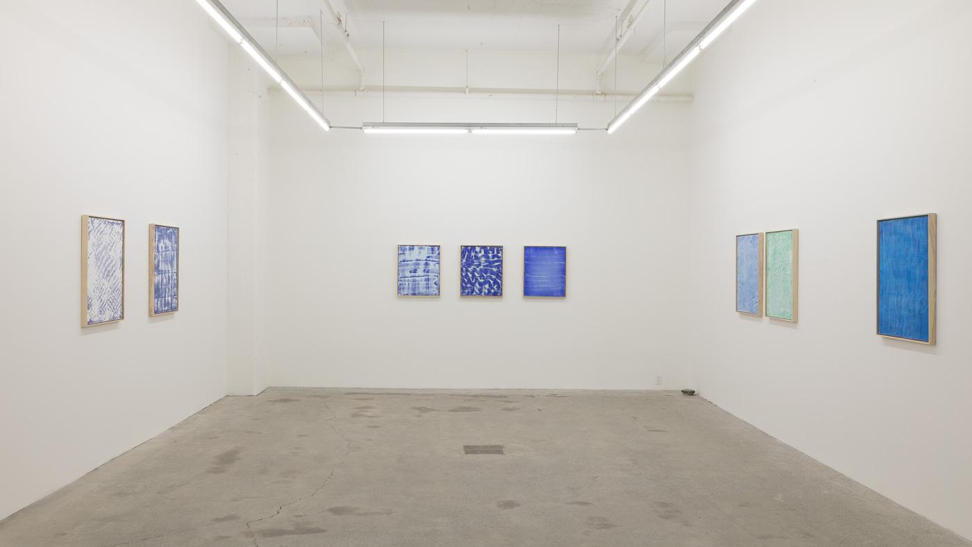 Pierre Julien,  Blue Print , 2017, exhibition view, Galerie Nicolas Robert, photo : Jean-Michael Seminaro