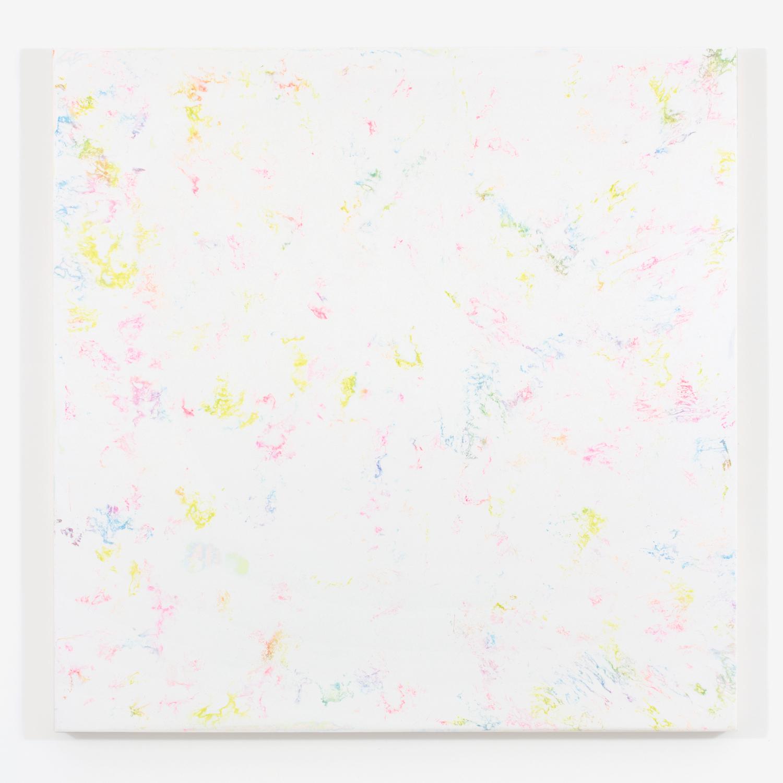 "Pierre Julien,  White Matters no.1 , 2015, plaster and acrylique on wood, 48 x 48"" ( 122 x 122 cm)"