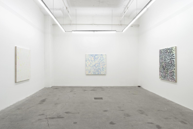 Pierre Julien,  Purple Haze , 2016, exhibition view, Galerie Nicolas Robert