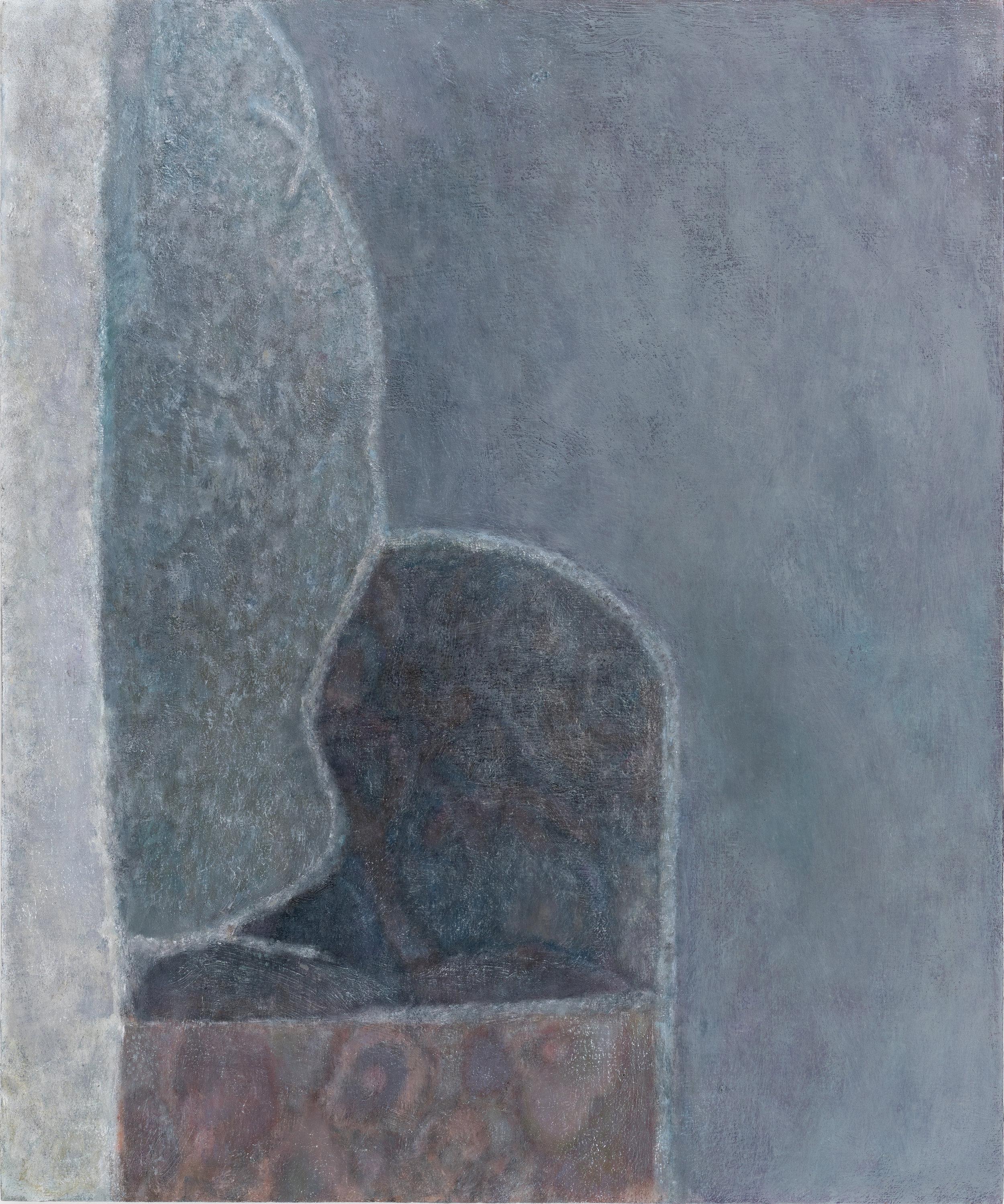 """Laurence Pilon, Safe Place,  2018, oil on wood panel, 24"""" x 20"""" (61 x 51 cm)"""