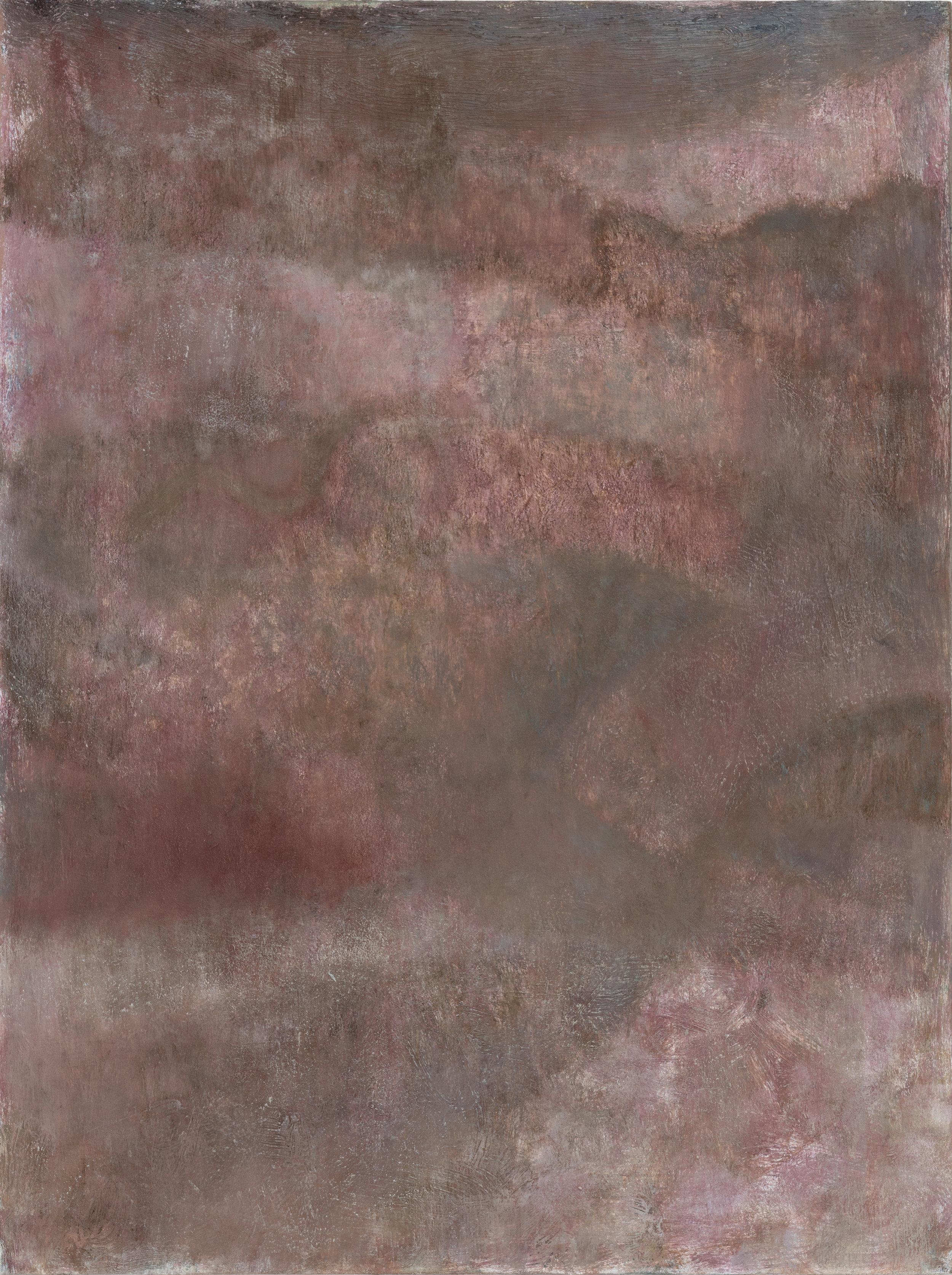 "Laurence Pilon,  Smoky Fog,  2018, oil on panel, 16"" x 12"" (41 x 30 cm)"