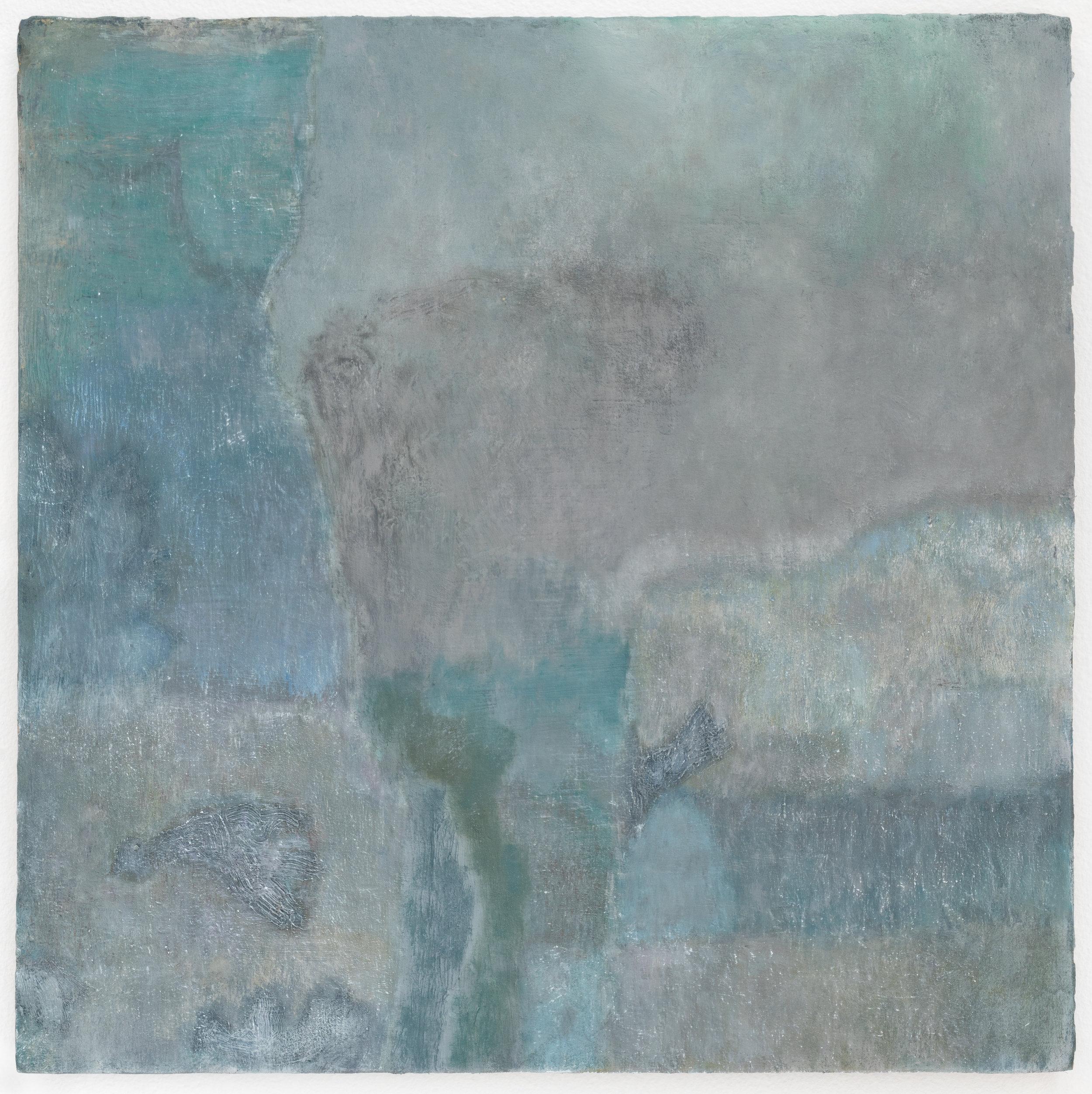 "Laurence Pilon, At rest, 2018, oil on panel, 12"" x 12"" (30 x 30 cm)"