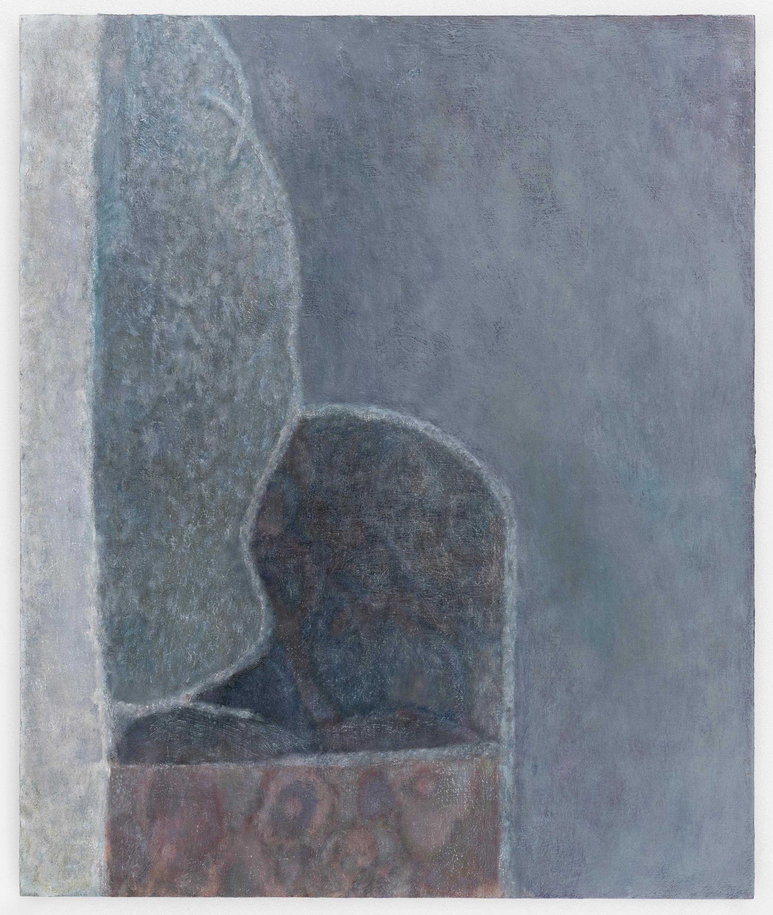 """Laurence Pilon, Safe Place, 2018, oil on panel, 24"""" x 20"""" (61 x 51 cm)"""